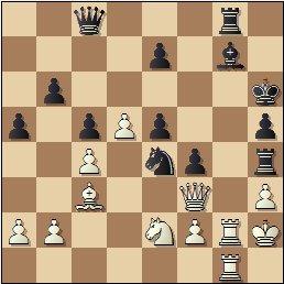 Partida de ajedrez Rey Ardid vs. Sanz, posición después de 40.Tcg1