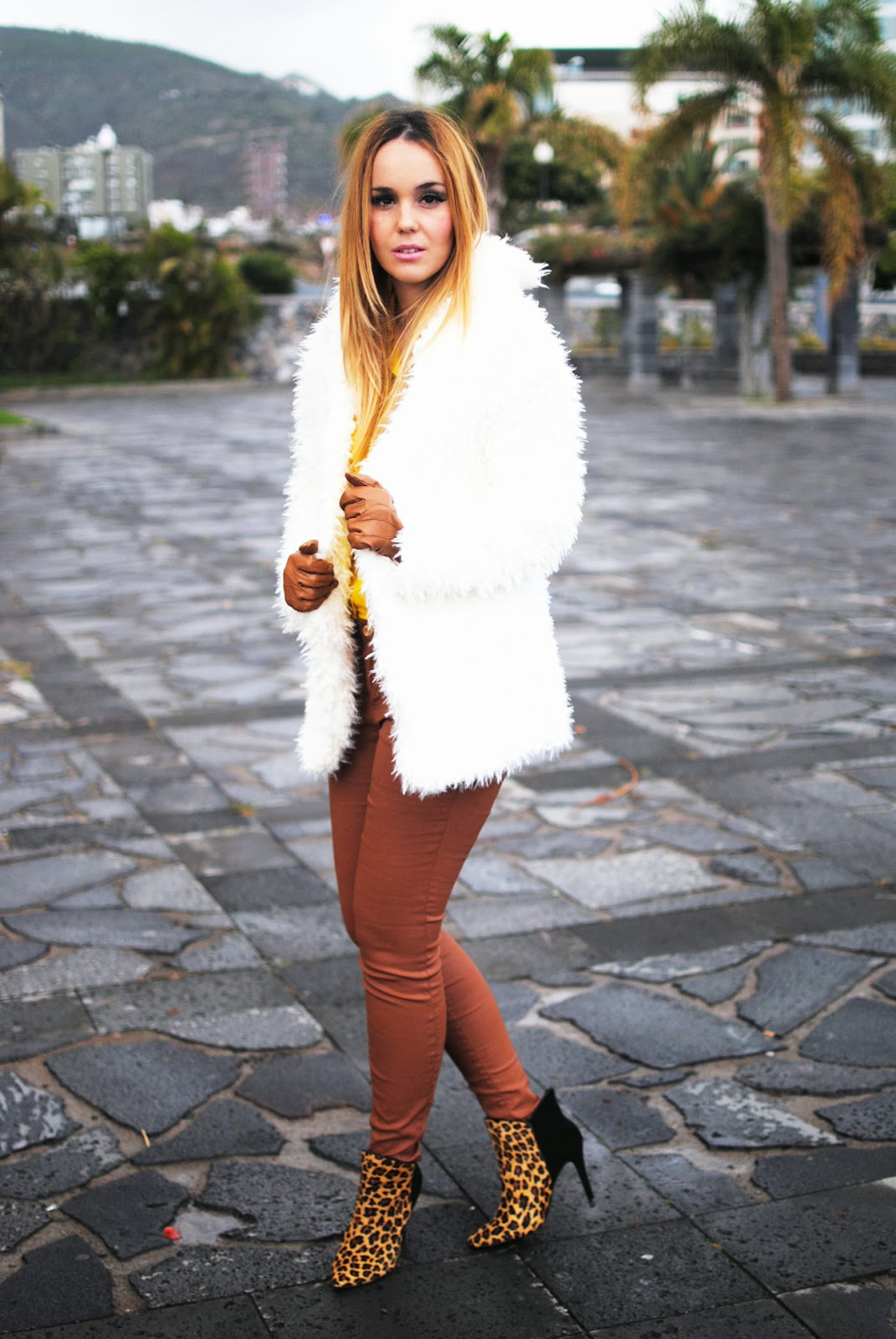 nery hdez, gloves, primark, rosewholesales, fur coat, teddy coat, print animal
