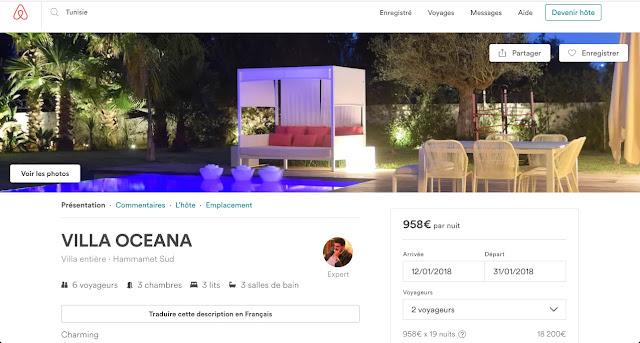 Airbnb Tunisie