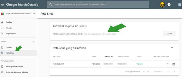 Sitemap XML Google Searc Console