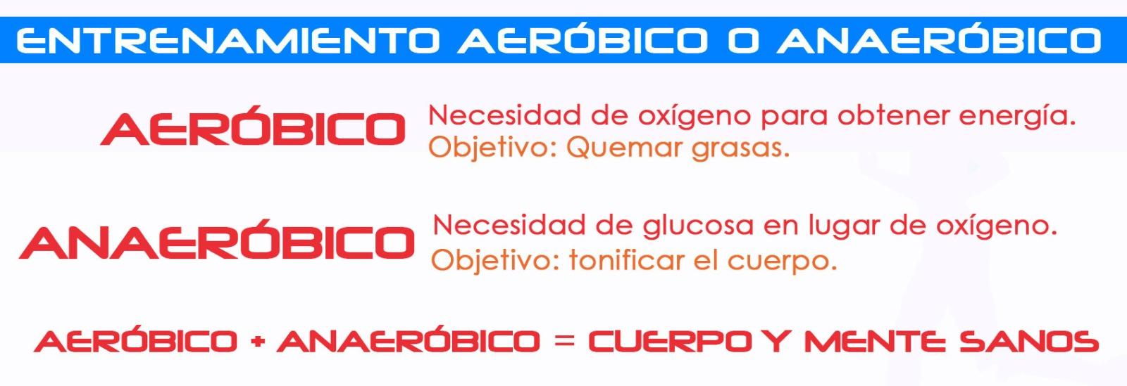 Ejercicio aerobico y anaerobico para adelgazar