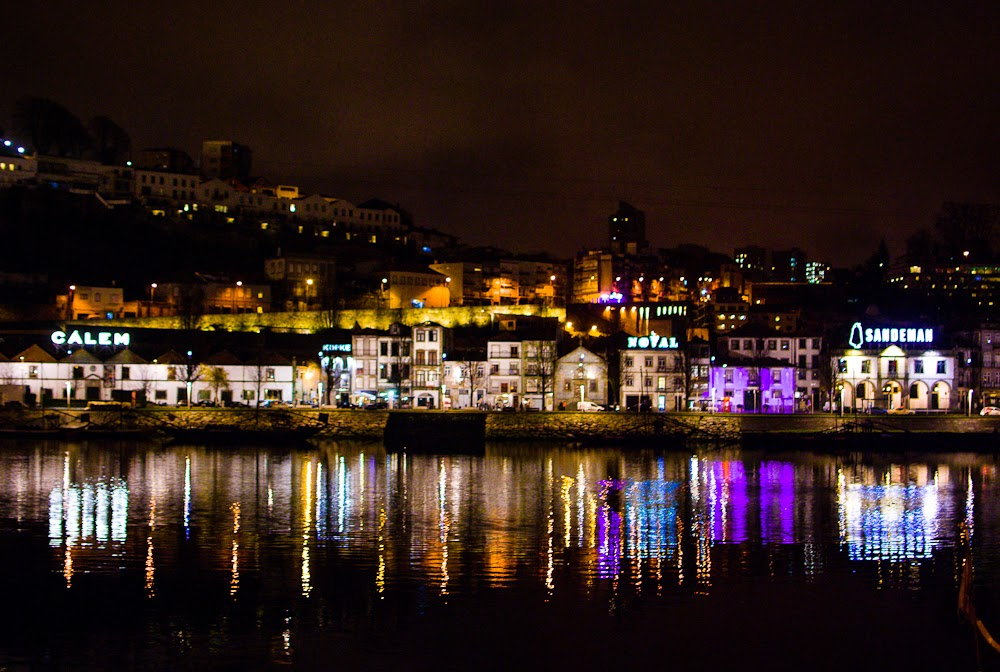 Porto river night scene