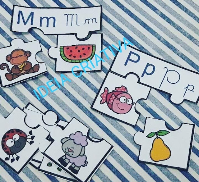Quebra-cabeça Letras do Alfabeto para imprimir