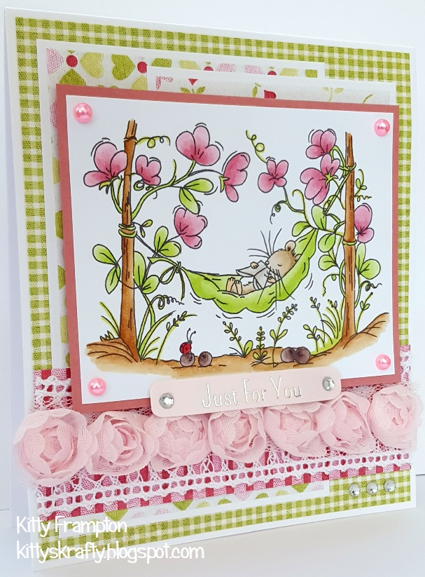 Kittys krafty blog sweet pea for this card i used the sweet peas digi stamp from lili of the valley you can also get this as a rubber stamp too i coloured the image with my copics altavistaventures Image collections