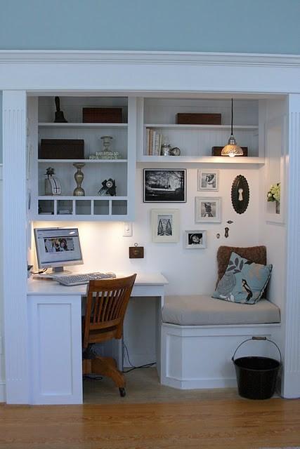 Office In A Cupboard Idea