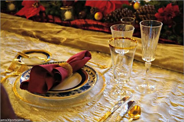 Mesa en el Salón Comedor de Marble House, Newport