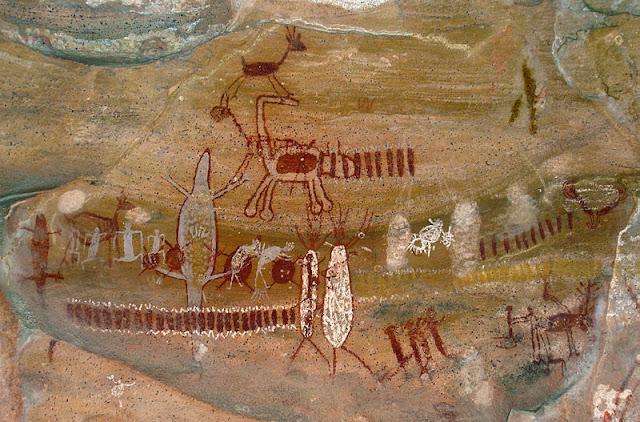 pinturas rupestre no Brasil - Parque Nacional da Serra da Capivara, Brasil