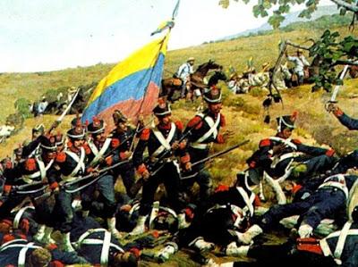 Dibujo de la Batalla de Carabobo a color