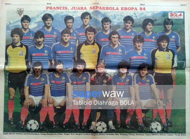 Poster France Team 1984