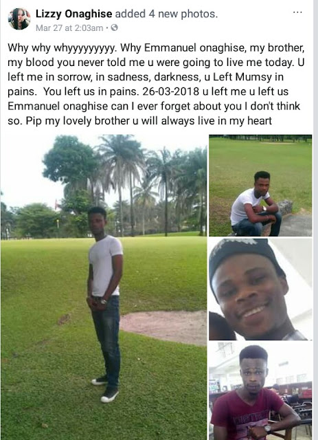 Photos: 27-year-old Ambrose Alli University student hacked to death in Lagos by suspected cultists