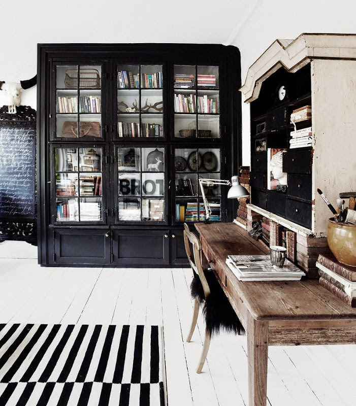 Noir blanc un style for Interieur noir et blanc