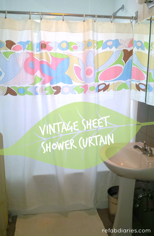 One Of A Kind Shower Curtains Part - 50: Vintage Sheets Make One-of-a-kind Shower Curtains