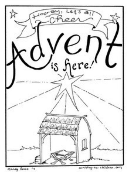 Baby Jesus Is Our Savior Coloring Page For Advent | Auto ...