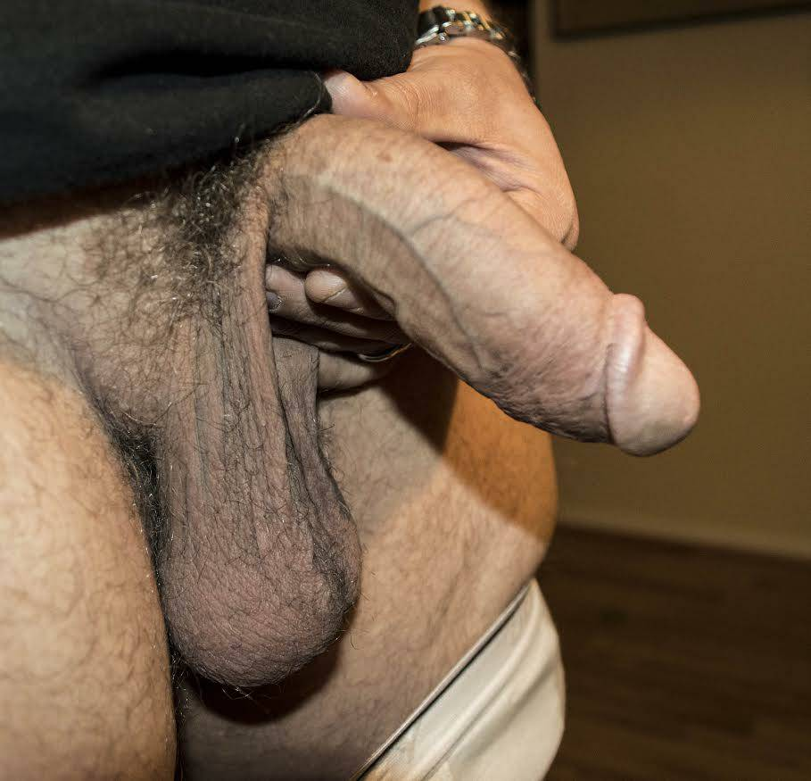 Uncut Guy With A Big Dick And Huge Balls In The Locker Room