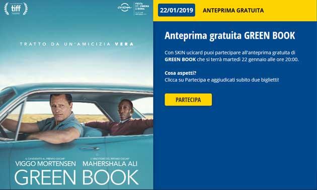Green Book: biglietti cinema gratis anteprima 22 gennaio 2019