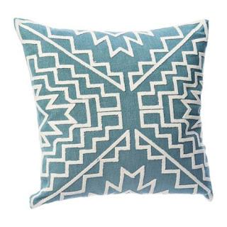 cute teal pillow