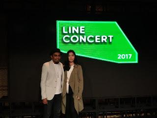 Gleen dan Isyana di Line Concert 2017