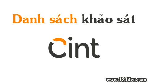 Danh sách các website khảo sát thuộc Cint cho anh em Việt Nam