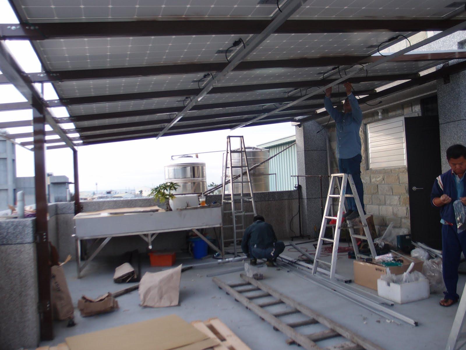 彰化永豐太陽能賣電屋頂農地種電工廠鐵皮更新: 太陽能板安裝實例