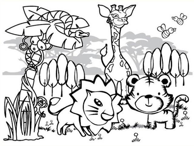 tranh tô màu động vật cho bé tập tô màu 20
