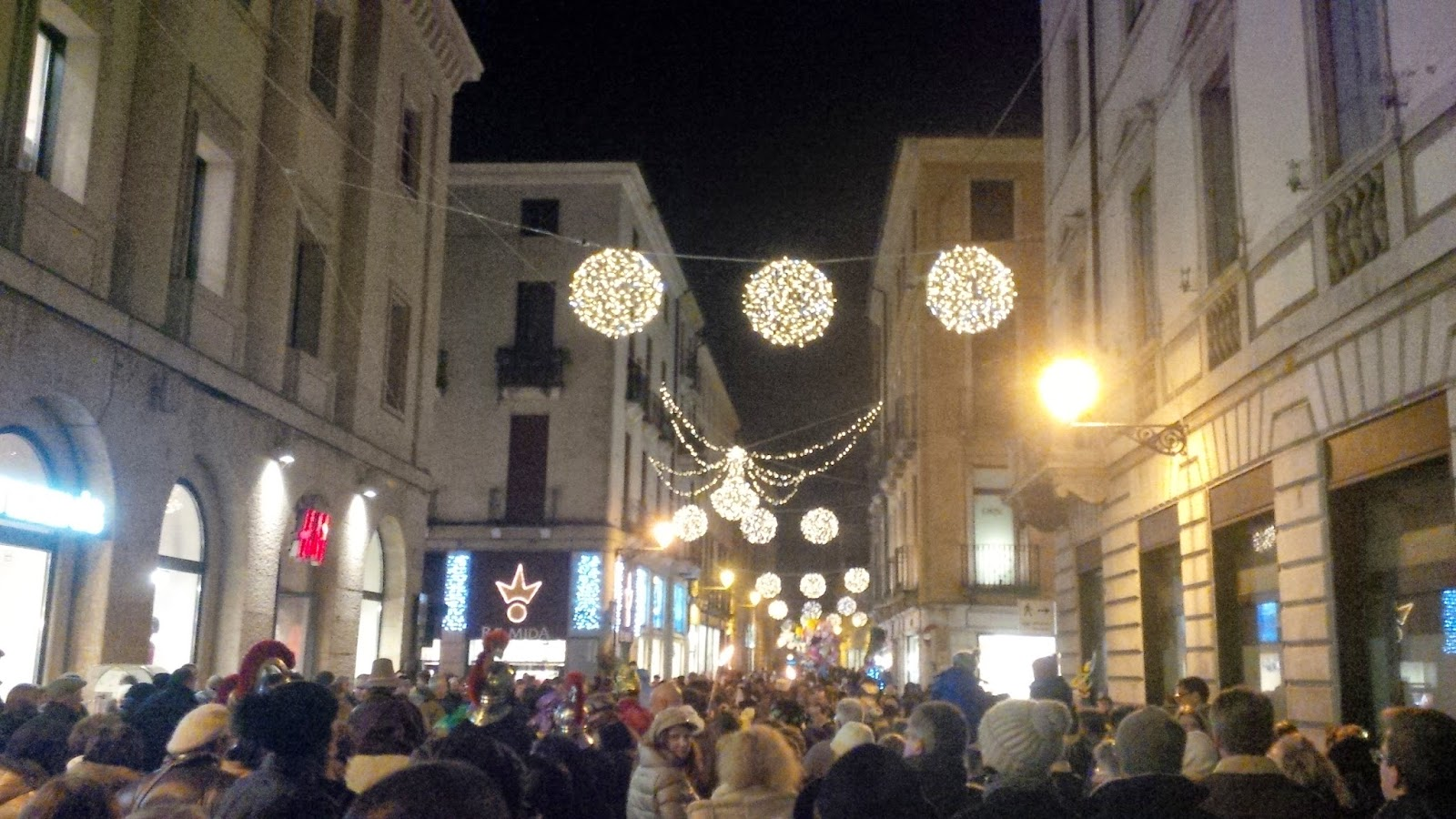 The procession following the living Nativity Scene in Vicenza