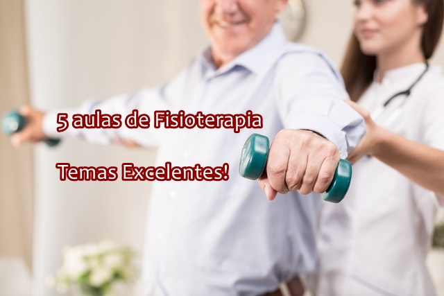 Kit com 5 videoaulas de  Fisioterapia