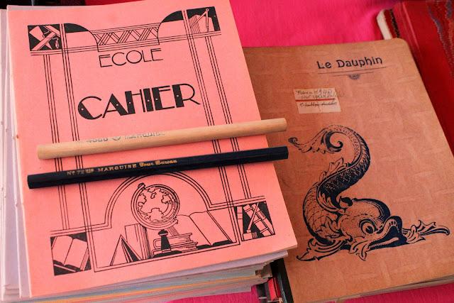 Vintage schoolbooks. I love French stationery
