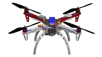dji drone 3d model  | 960 x 540