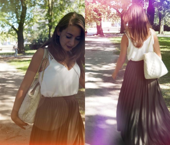 maxi skirt khaki