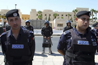 Jordanian police officers
