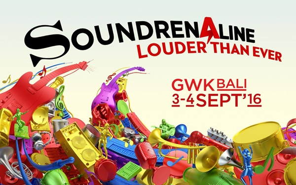 Soundrenaline 2016 digelar di Bali dengan Tema Louded Than Ever