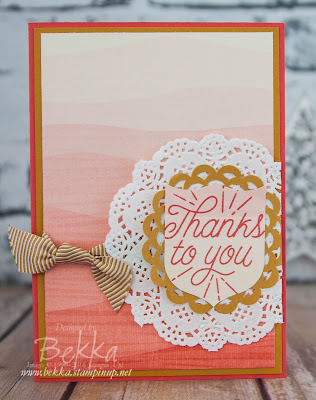 Thanks to You Card Made With Stampin' Up! UK Supplies which you can purchase here