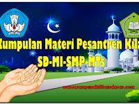 20 macam Kumpulan Materi Pesantren  Kilat bulan Ramadhan SD-MI-SMP dan MTs