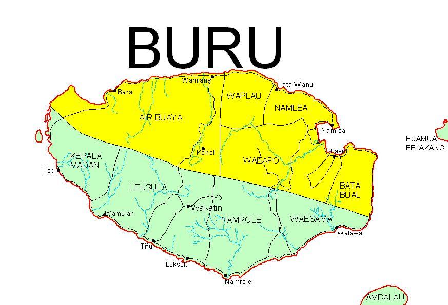 Daftar Nama kecamatan dan desa di Kabupaten Buru ...