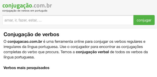 Diccionario de conjugación de verbos en portugués