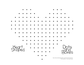 The Puzzle Den - Heart Shaped Dots and Boxes Board