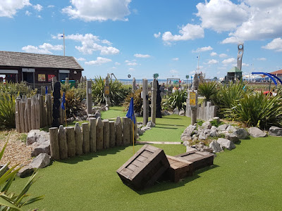 The Pirate Cove Adventure Golf course at Aberavon beach in Port Talbot