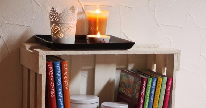 homemade and baked food blog diy b cherregal aus obstkisten. Black Bedroom Furniture Sets. Home Design Ideas