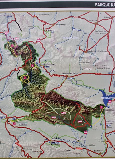 mapa de Cabañeros