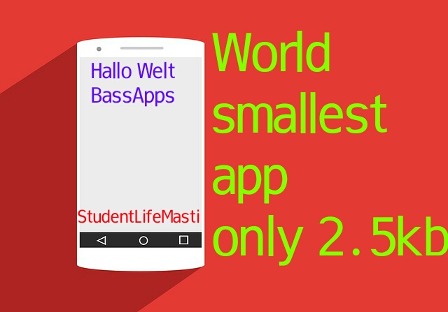 Try World smallest app (size: 2.5kb)