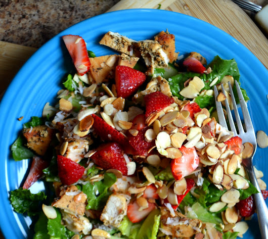 Toasted Coconut and Strawberry Chicken Salad