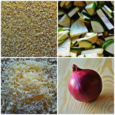 Kasza bulgur z bakłażanem i cukinią - składniki