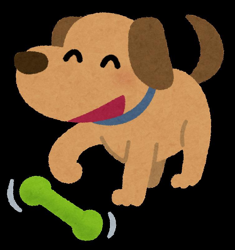おもちゃで遊ぶ犬のイラスト かわいいフリー素材集 いらすとや