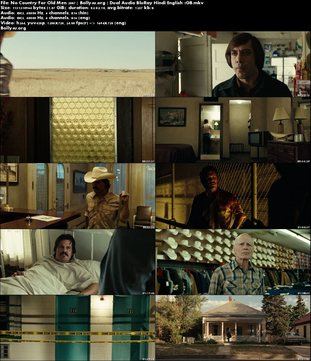 No Country For Old Men 2007 BRRip 350MB Hindi Dual Audio 480p Download
