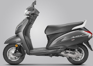 Honda Activa 5G Matte Axis Grey Metallic Colour