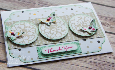 What I Love Floral Notecard made using free stamps from Stampin' Up! UK - get the details here