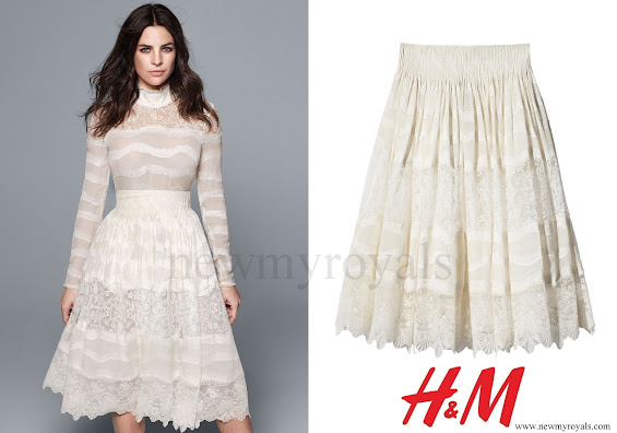 Crown Princess Mary wore H&M Lace Skirt - Conscious Exclusive Collection