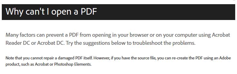PDF tidak bisa kebuka