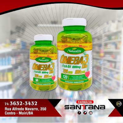 Farmácia Santana está com Ômega 3 em promoção!