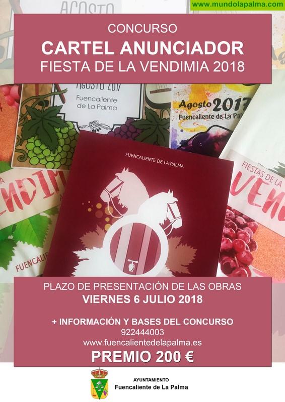 Fuencaliente vuelve a convocar el concurso para elegir el cartel anunciador de la Fiesta de la Vendimia 2018